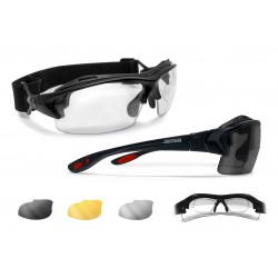 Cycling Sunglasses for Prescription AF399D Shiny Black