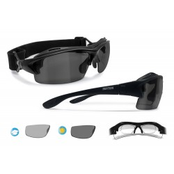 Occhiali Ciclismo da Vista Fotocromatici Polarizzati P399FTA Nero Opaco