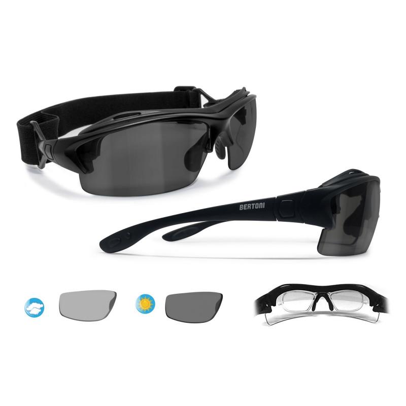 Gafas Ciclismo Fotocromaticas Polarizadas Graduadas P399FTA Negro Mate