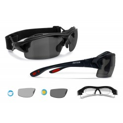 Photochromic Polarized Cycling Sunglasses for Prescription P399FTD Shiny Black