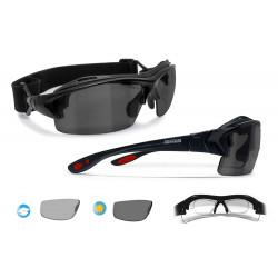 Gafas Ciclismo Fotocromaticas Polarizadas Graduadas P399FTD Negro Brillante