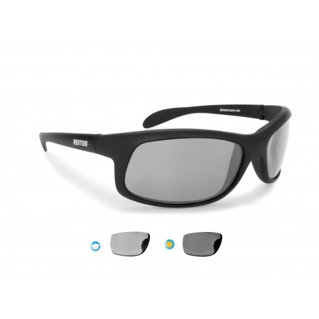 Photochromic polarized cycling sunglasses able to float in water P545FT by Bertoni Italy